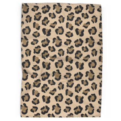 Leopard Print Tea Towel