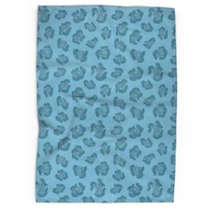Water Leopard Print Tea Towel