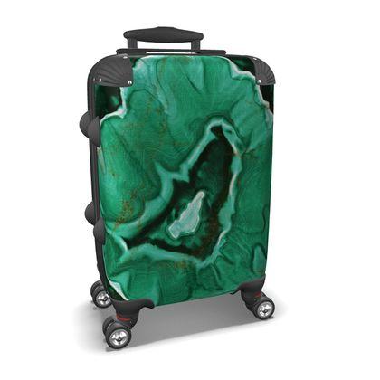 malachite stone suitcase