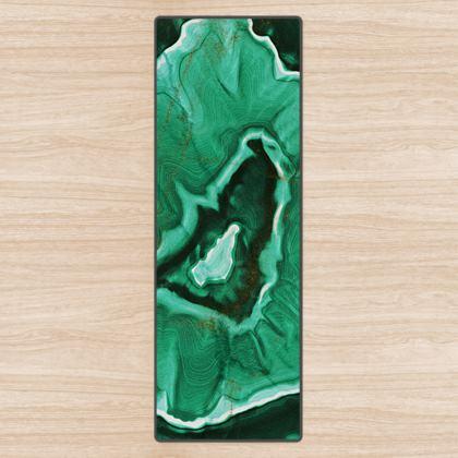 malachite stone yoga mat