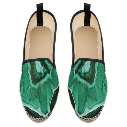 malachite stone loafer espadrilles