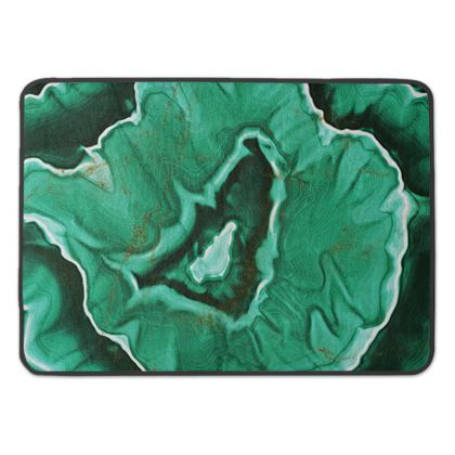 malachite stone bath mat