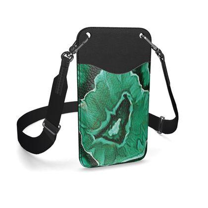 malachite phone case with strap