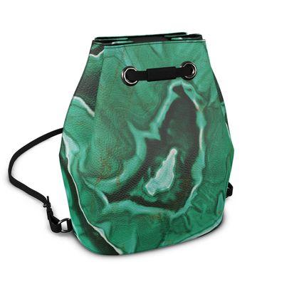 malachite bucket backpack