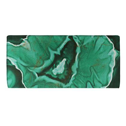 malachite stone travel wallet
