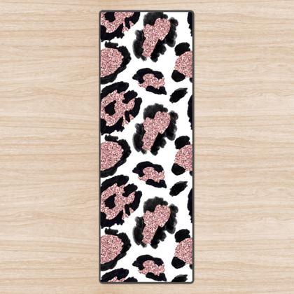 glitter leopard print yoga mat