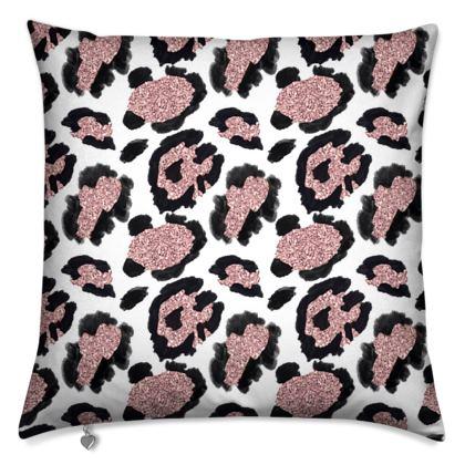glitter leopard print cushions