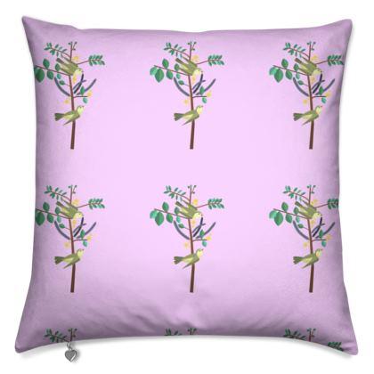 Cushions- Emmeline Anne Birds On a Branch, Lilac