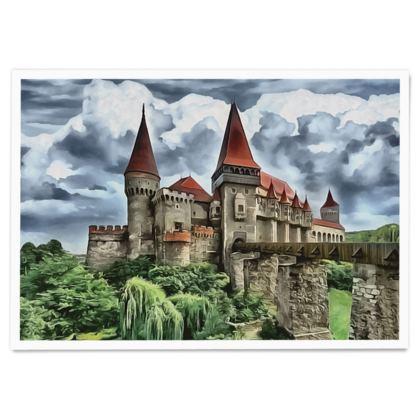 Dracula Corvin Castle - Paper Poster