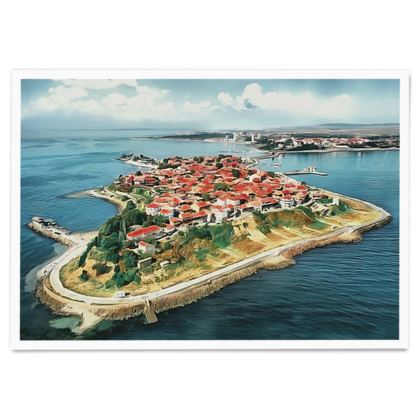 Island of Old Nessebar UNESCO site - Paper Poster