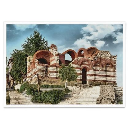 Ancient Church Old Nessebar UNESCO site - Paper Poster