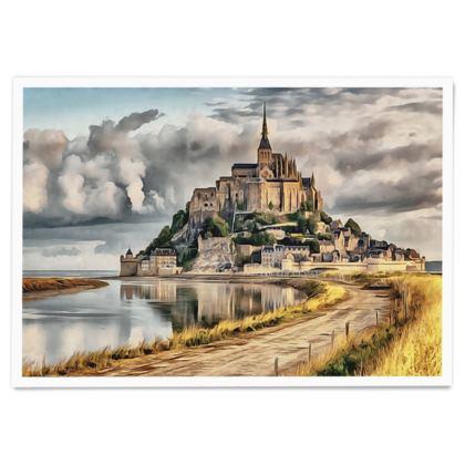 Mont Saint Michel Castle UNESCO site - Paper Poster