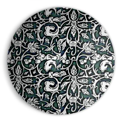 ' Victoriana' Ornamental Bowl in Black,White and Green