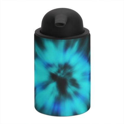 blue black tie dye painting soap dispenser