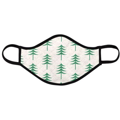 Take a hike - Face Masks - Woods, ecological, eco friendly gift, light, green and white, spruce forest, fir-trees, natural, nature, elegant, wildlife, minimalist - design by Tiana Lofd