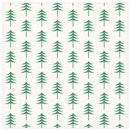 Take a hike - Fabric Printing - Woods, ecological, eco friendly gift, light, green and white, spruce forest, fir-trees, natural, nature, elegant, wildlife, minimalist - design by Tiana Lofd