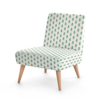 Take a hike - Occasional Chair - Woods, ecological, eco friendly gift, light, green and white, spruce forest, fir-trees, natural, nature, elegant, wildlife, minimalist - design by Tiana Lofd