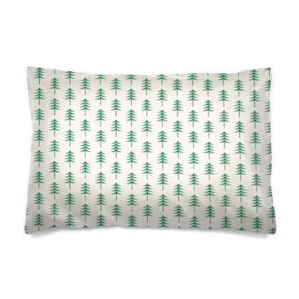 Take a hike - Pillow Cases sizes - Woods, ecological, eco friendly gift, light, green and white, spruce forest, fir-trees, natural, nature, elegant, wildlife, minimalist - design by Tiana Lofd