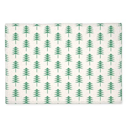 Take a hike - Fabric Placemats - Woods, ecological, eco friendly gift, light, green and white, spruce forest, fir-trees, natural, nature, elegant, wildlife, minimalist - design by Tiana Lofd