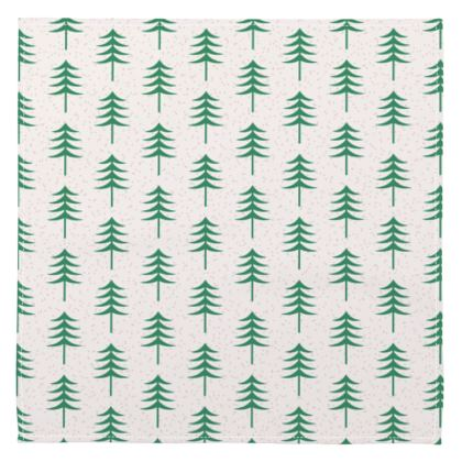Napkins - Take a hike - Woods, ecological, eco friendly gift, light, green and white, spruce forest, fir-trees, natural, nature, elegant, wildlife, minimalist - design by Tiana Lofd