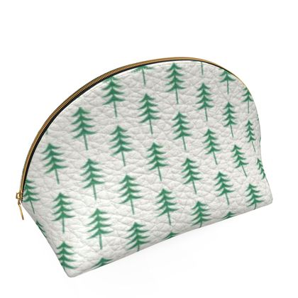 Take a hike - Shell Coin Purse - Woods, ecological, eco friendly gift, light, green and white, spruce forest, fir-trees, natural, nature, elegant, wildlife, minimalist - design by Tiana Lofd