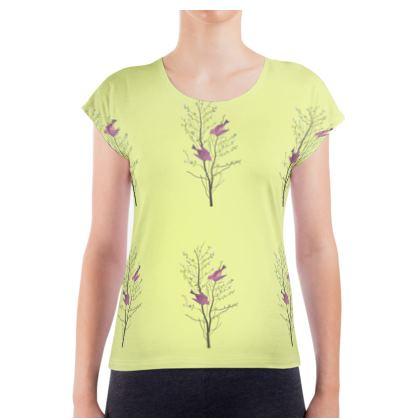 Ladies T Shirt - Emmeline Anne Birds On a Branch