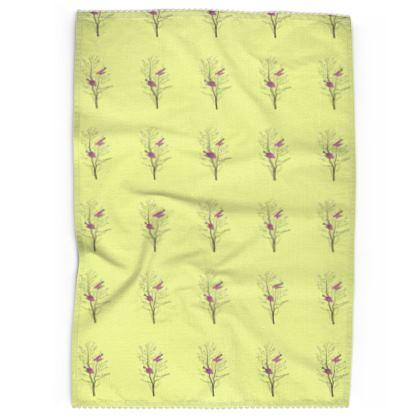 Tea Towels - Emmeline Anne Birds On a Branch