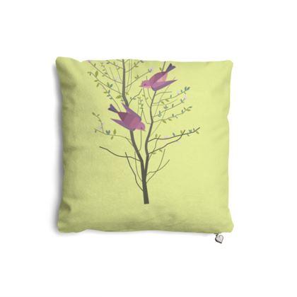Pillows Set - Emmeline Anne Birds On a Branch Lemon