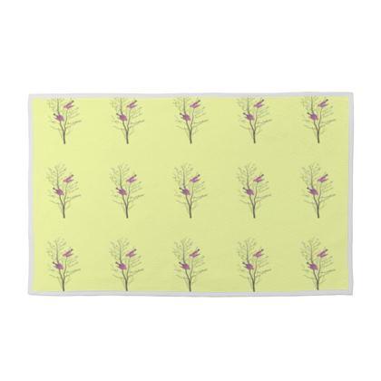 Towel Set - Birds On a Branch Lemon