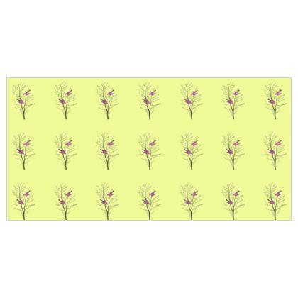 Voile Curtains - Emmeline Anne Birds On a Branch Lemon
