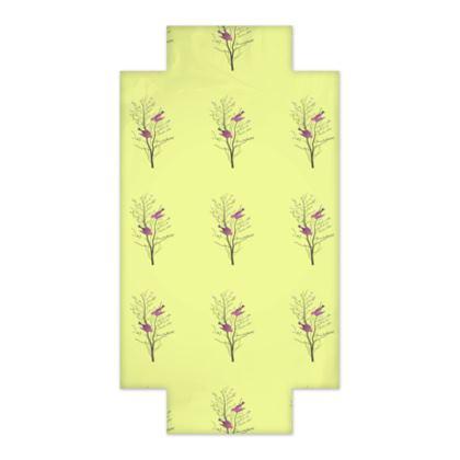 Fitted Sheets - Emmeline Anne Birds On a Branch Lemon