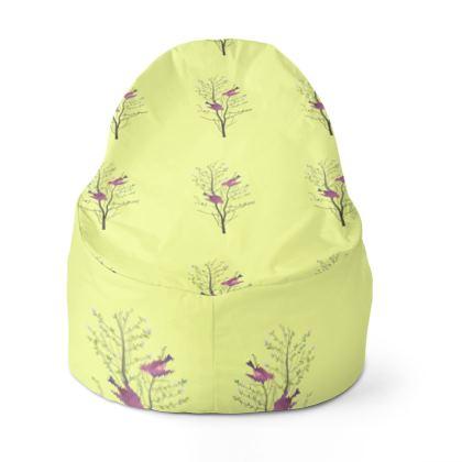 Bean Bags- Emmeline Anne Birds On a Branch Lemon