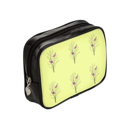 Make Up Bags - Emmeline Anne Birds On a Branch Lemon