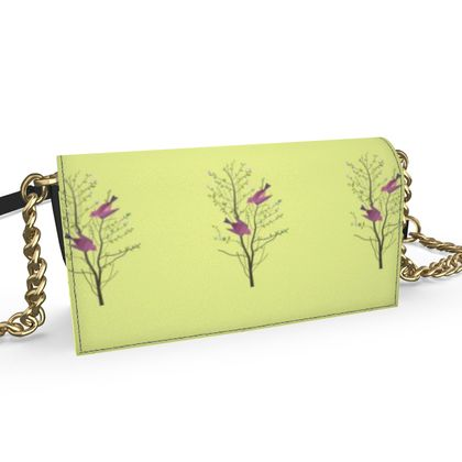 Oana Evening bag - Emmeline Anne Birds On a Branch Lemon