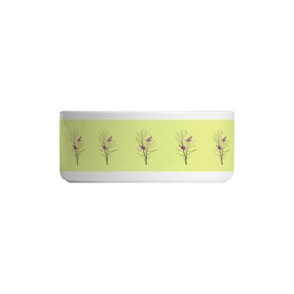 Ceramic Bowls- Emmeline Anne Birds On a Branch Lemon