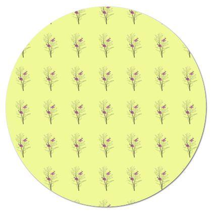 Tablecloth- Emmeline Anne Birds On a Branch Lemon