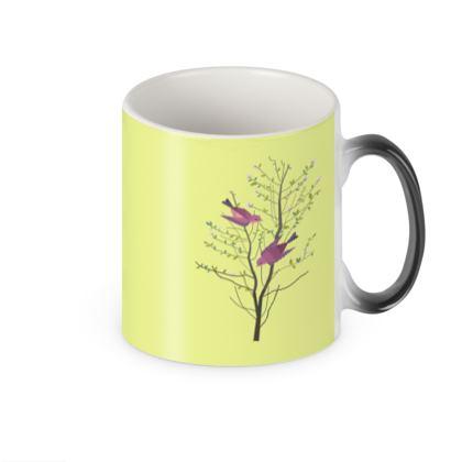 Heat Changing Mug- Emmeline Anne Birds On aBranch