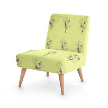 Occasional Chair- Emmeline Anne Birds On Branch Lemon