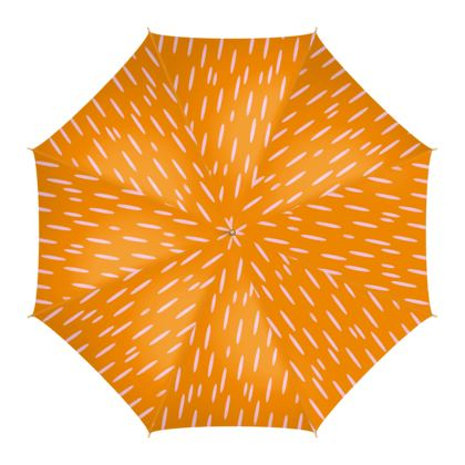 Raining Opportunities Umbrella in Orange