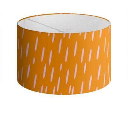 Raining Opportunities Drum Lamp Shade in Orange