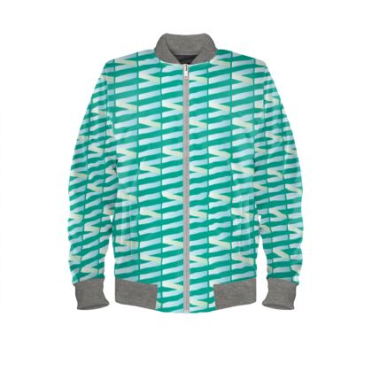 Zig My Zag Ladies Bomber Jacket in City Green