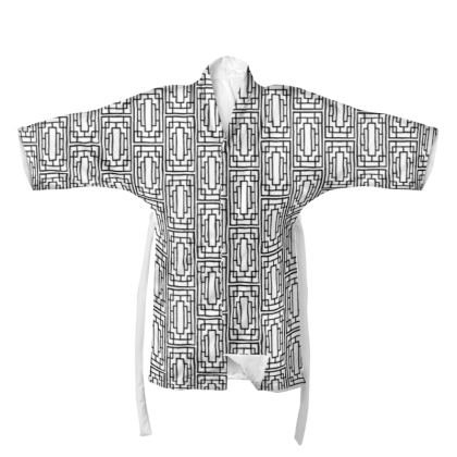 China Girl Kimono in Black and White