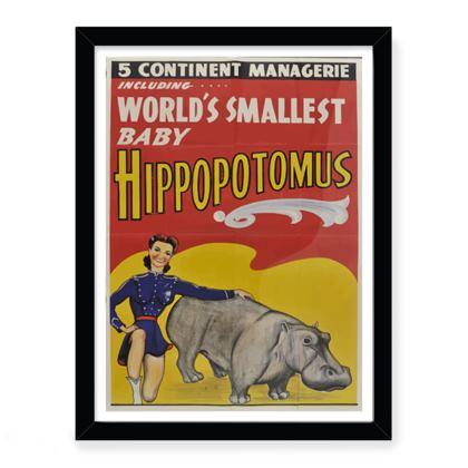 Baby Hippo Print
