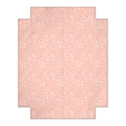 Silky dots - Fitted Sheets - Peach polka dot, powdery pink and silky, feminine vintage, girly, baby, kids lovely gift - design by Tiana Lofd