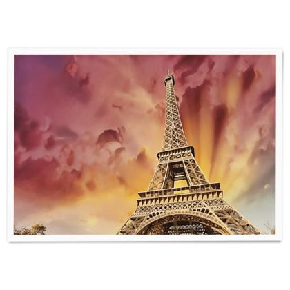 Eiffel Tower in Sunset - Paper Poster