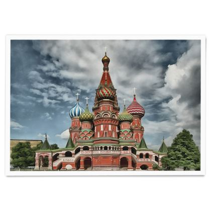 Saint Basil's Cathedral UNESCO site - Paper Poster