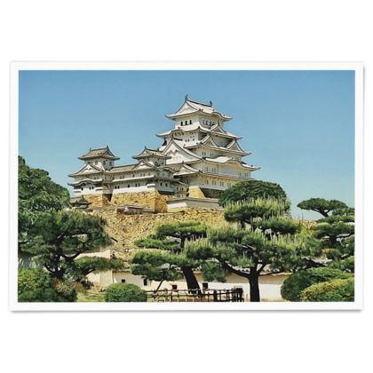 Himeji Castle Japan UNESCO site - Paper Poster