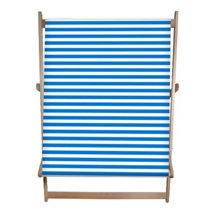 Vacation by the sea - Double Deckchair - Horizontally striped, white and blue stripes, marine, resort, coast, beach, classic, elegant gift, seaside vacation, sea, maritime - design by Tiana Lofd
