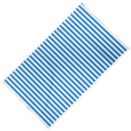 Vacation by the sea - Towels - Horizontally striped, white and blue stripes, marine, resort, coast, beach, classic, elegant gift, seaside vacation, sea, maritime - design by Tiana Lofd