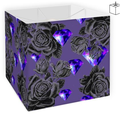 'Diamonds and Roses' Square Lamp Shade